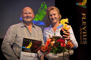 De uitreiking van de Flevius Award vorig jaar.