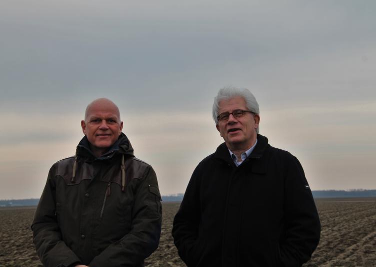 Henk de Vries en Ed Wassenberg. (Foto: Kees Bakker)