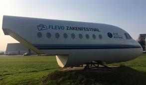 Flevo Zakenfestival Logo Vliegtuig