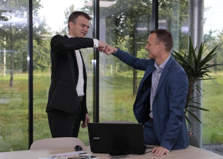 Henk Stoel en Peter Arkenhout