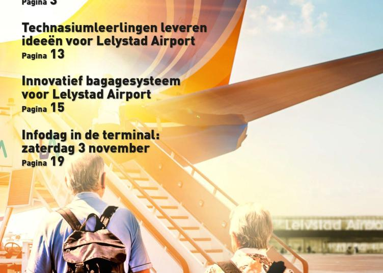 Lelystad Airportkrant oktober 2018 omslag