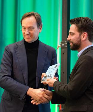Jan Nico Appelman ontvangt de buik van de stad